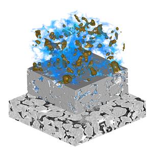 Exa DigitalROCK™ multi-phase flow simulation