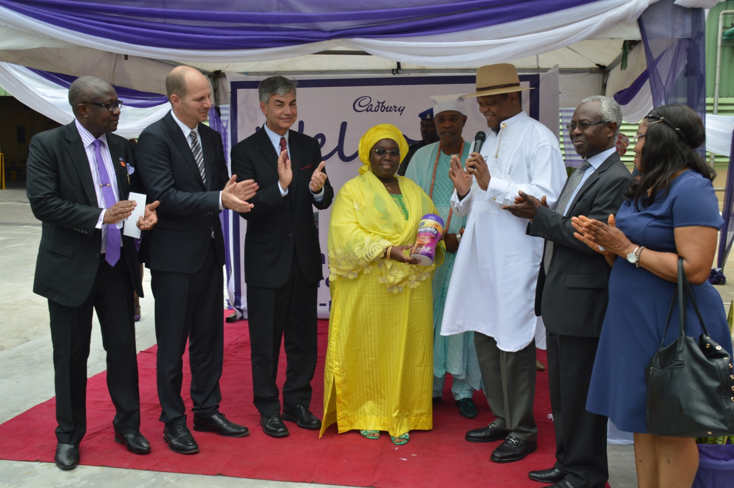 Daniel Myers celebrates our new Bounvita plant opening in Lagos Nigeria with local leaders and government officials..jpg
