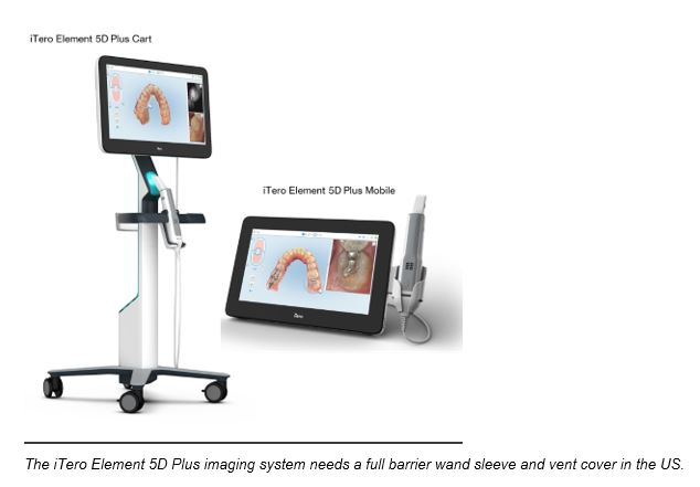 The iTero Element 5D Plus imaging system
