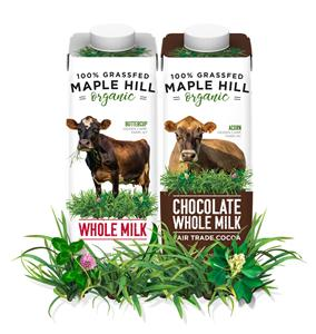100% Grass-fed Organic Milk Available in Single Serve, Eco
