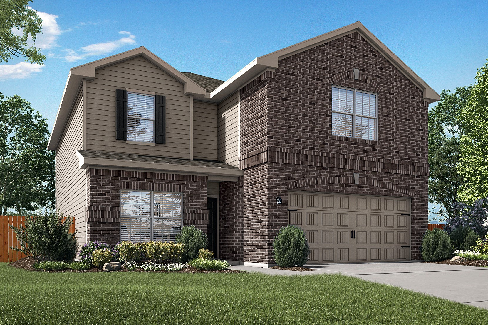 The spacious Travis plan is now available at Homestead Estates in Elgin, Texas.
