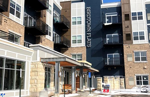 Bird Town Flats opened for occupancy in January 2020. The Qualified Opportunity Zone is a half mile from downton Robbinsdale and minutes from downtown Minneapolis, with easy access to the highway and transit options. The 152-unit, Class A apartment community offers two-bedroom, one-bedroom and studio units. Amenities include premium kitchens, a rooftop deck, fitness center, underground garage, outdoor TV lounge and bike trails.