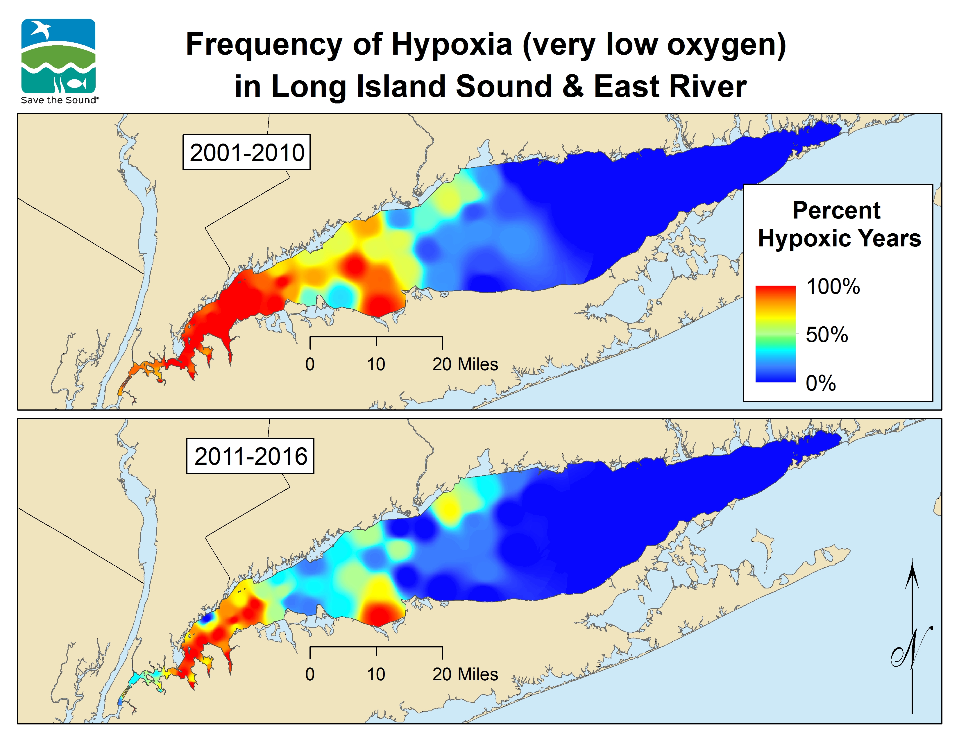 Save the Sound 4 Before and After Hypoxia Maps 11.14.17