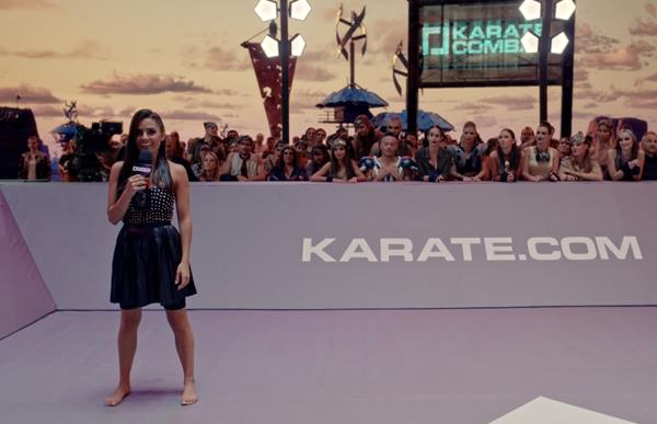 Karate Combat presenter Layla Anna-Lee explains the promotion's full-contact rules in the sci-fi wasteland created using Epic Games' Unreal Engine.New fights air  in the UK and Ireland every Friday at 11 p.m. on FreeSports.
