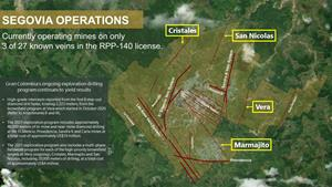Attachment 1 – Segovia Mining Title and Vein System Overview