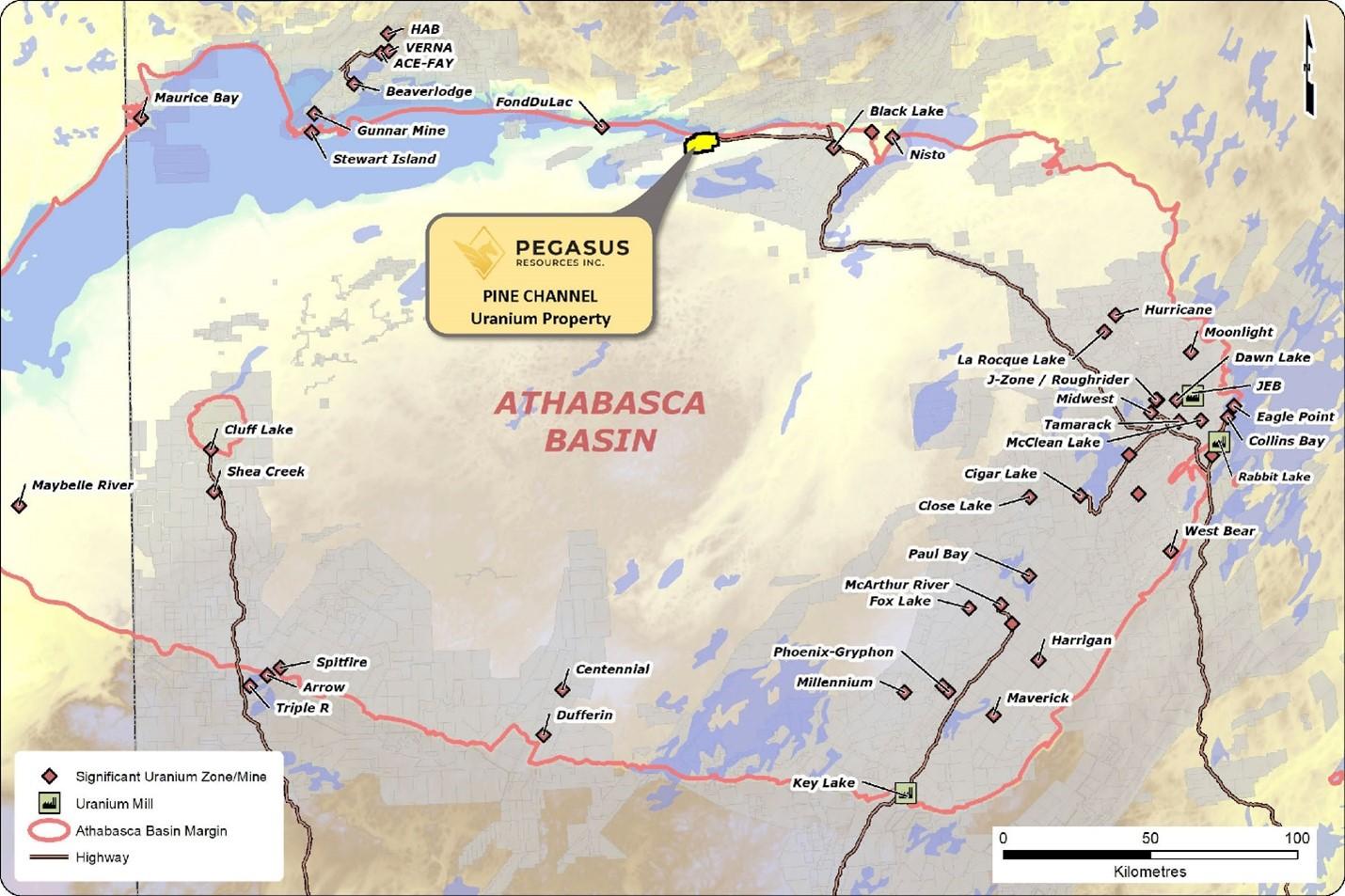Pine Channel Uranium Property – Athabasca Basin