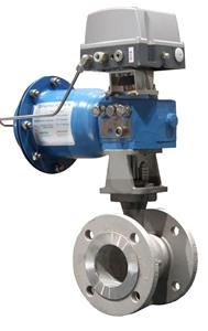 Neles segment valve equipped with ND9000 valve controller.jpg.jpg