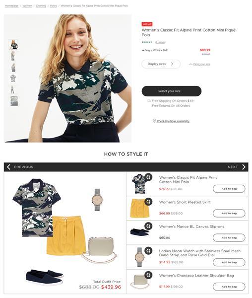 Stylitics Mix & Match outfitting tool