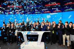 Bandwidth Inc. Rings The Nasdaq Stock Market Opening Bell in Celebration of Its IPO