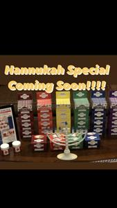 Hanukkah Table with Tauri-Gum and Chanukiah