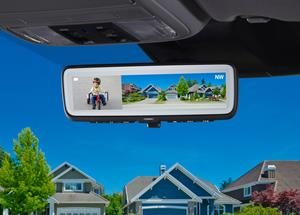 Gentex Aftermarket Full Display Mirror with Dual-Camera Inputs