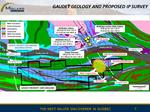 Figure 5 Gaudet Geology and Proposed IP Survey