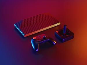 Atari VCS with Joystick and Controller