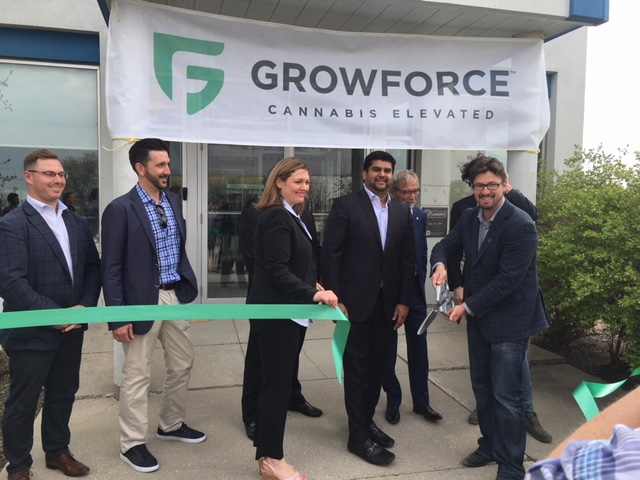 GrowForce Flagship Cannabis Facility Ribbon Cutting