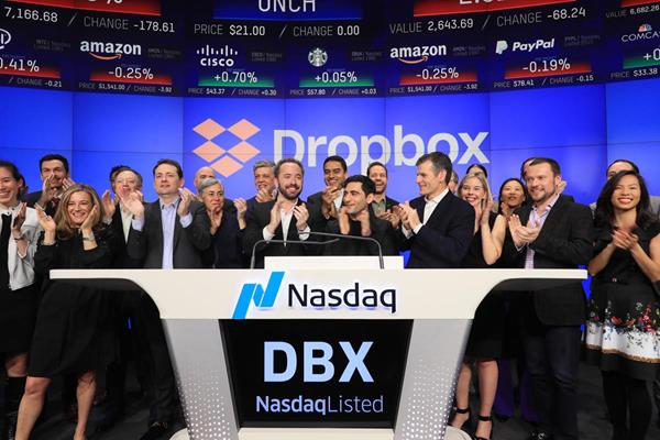 Dropbox, Inc. (Nasdaq: DBX) Rings the Nasdaq Stock Market Opening Bell in Celebration of Its IPO