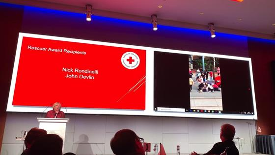 Canadian Red Cross Rescuer Award: Watch CEO, Nick Rondinelli and First Aid Instructor, John Devlin Receive Rescuer Award After Helping Man After Collision in Toronto