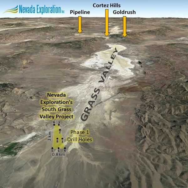 Nevada Exploration Presents Final Results From Phase 1 Drilling Program And Plans For Summer Field Program At South Grass Valley Gold Project Battle Mountain Eureka Cortez Trend Nevada Tsx Venture Exchange Nge