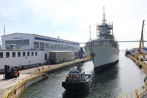 HMCS Montreal at Halifax Shipyard
