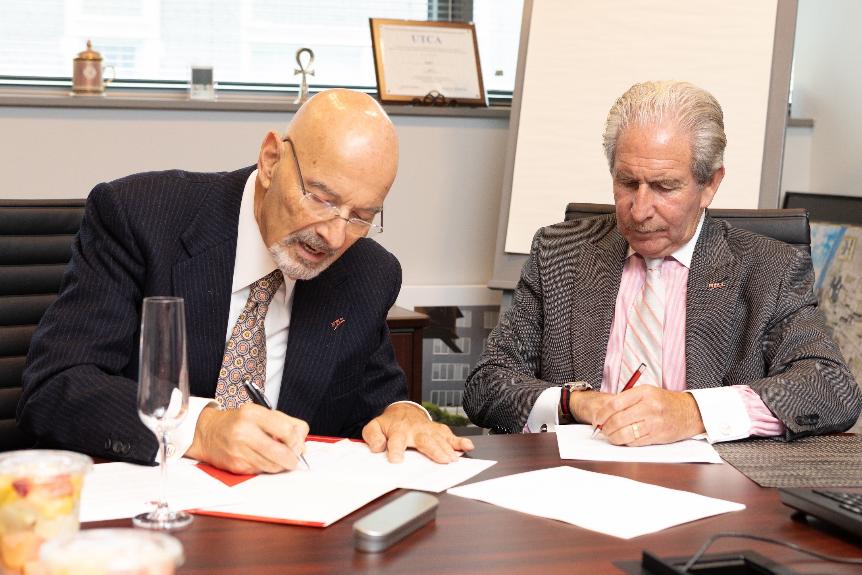 Paul V. Profeta, president of The Paul V. Profeta Foundation, Inc., and Joel S. Bloom, president of New Jersey Institute of Technology.