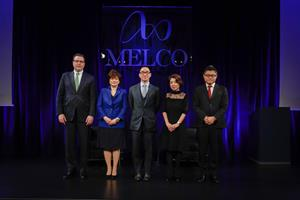 Melco Resorts Chairman and CEO Lawrence Ho with the company's Japan leadership team