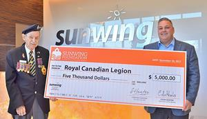 Sunwing Remembrance Day Donation