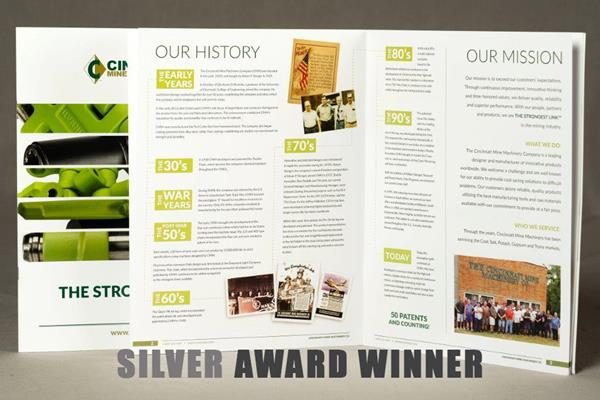 FUSIONWRX, a Flottman Company Look Book for Cincinnati Mine Machinery takes SILVER!