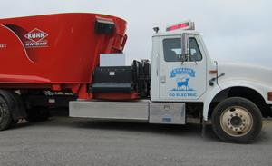 Full-Scale Electric Feed Truck Powered by Cows