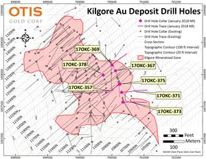 Kilgore Drill Hole Plan Map