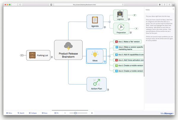 MindManager 11 for Mac - HTML5 Export