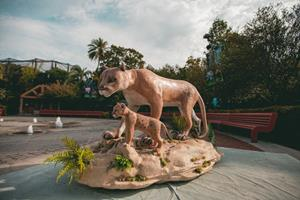 the-cleo-institute-florida-climate-crisis-wax-sculpture-florida-panther