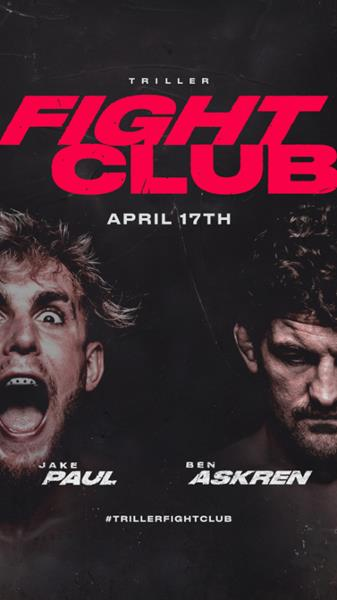 Jake Paul and Ben Askren headline Triller Fight Club's 2021 kickoff event on April 17 at Mercedes-Benz Stadium in Atlanta. The PPV event will be provided to cable, satellite and telcos in North America by iNDEMAND. FITE will handle live global digital streaming and power TrillerFightClub.com.