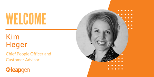 Leapgen welcomes Kim Heger as Chief People Officer and Customer Advisor
