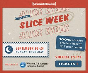 Cincinnati Magazine Presents Slice Week 2020 Slice Week 2020 is a virtual event hosted by Cincinnati Magazine and presented by Western & Southern Financial Group.  Taking place September 20 – 24, order your pizza voucher online and 100% of the proceeds benefiting UC Cancer Center.  Post images with your pizza using the hastags: #SnappyTomato  #cincinnatisliceweek  #Pizza www.cincinnatimagazine.com/slice