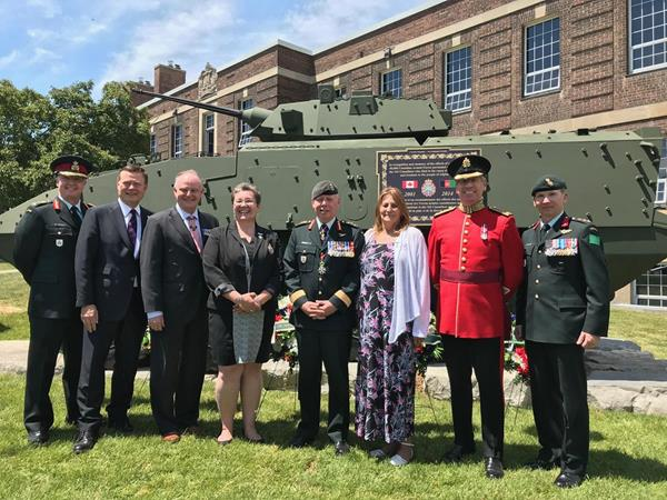Canada Company Unveils LAV III Monument at Toronto's Fort York Armoury
