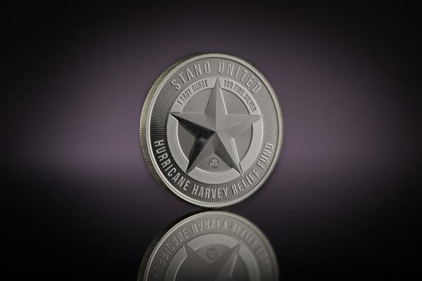 """""""Houston Strong"""" Silver Round Designed and Minted by Republic Metals Corporation"""