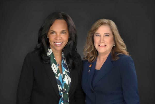 Priscilla Sims Brown and Lynne Fox
