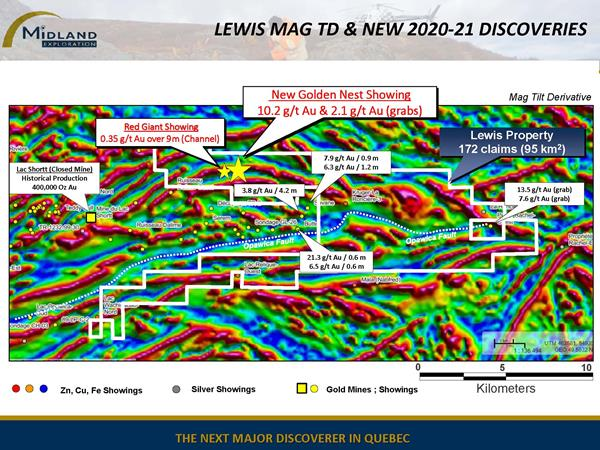 Figure 4 Lewis Mag TD and New 2020-21 Discoveries