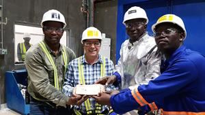 First Gold Pour – Boungou Mine