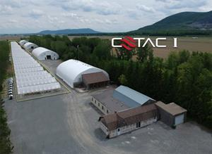 Current CETAC I Heat Campus with rendering of how greenhouses will be constructed adjacent to Heat Stations July 9