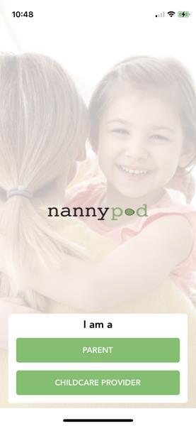 NannyPod App - Sign In