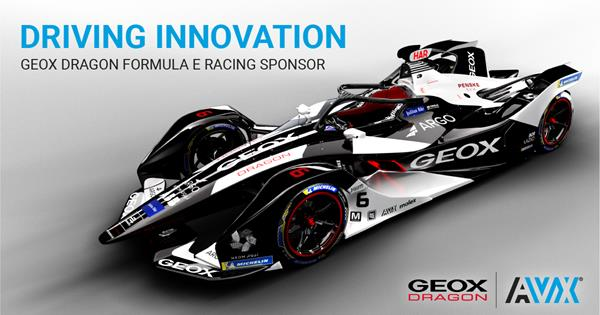 AVX is Sponsoring the GEOX DRAGON All-Electric Formula-E Racing Team for the Second-Straight Year