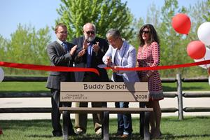 Lovely Candy Company Donates Buddy Benches to Area Schools