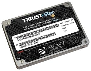 Mercury's new BuiltSECURE™ TRRUST-Stor® solid-state drive