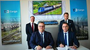 Contract signing with CD Cargo and Bombardier Transportation
