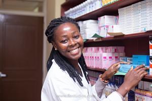 Sanford World Clinic pharmacist in Ghana.