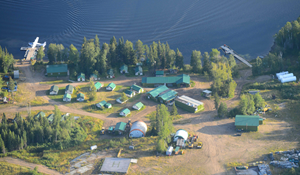 Aerial view of the Springpole Gold Project Camp