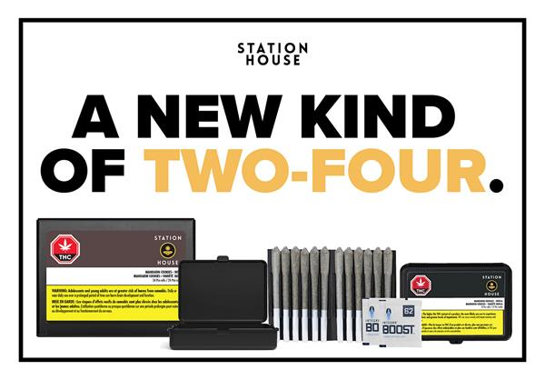 Every 24-pack contains two signature Station House 12-packs in a recyclable paper box. Station House's signature pre-roll multi-packs include pre-roll trays and humidity devices, inside a travel-friendly hard case to ensure optimal product integrity.