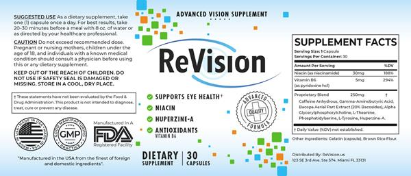 Revision Eye Supplement Reviews - Revision 2.0 Eye Capsules Ingredients Label
