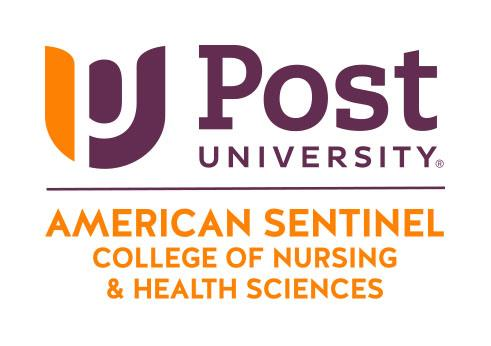 Logo of American Sentinel College of Nursing & Health Sciences at Post University.  Post University, a regionally accredited university, has substantial experience in online education, including more than 15,000 current online students, and will now support the healthcare community in Connecticut, and throughout the country