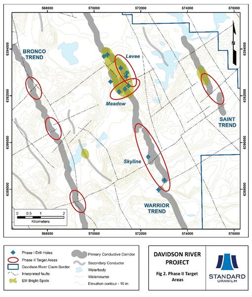 Fig 2 Davidson River Phase 2 Target Areas